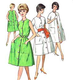 1960s Housecoat #Pattern Dress Coat Vintage #Simplicity by SelmaLee