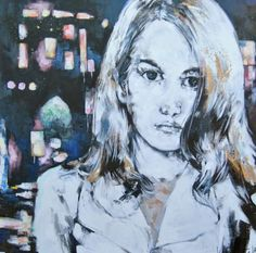 """Painting """" Lonely nights on queens street"""" by Fabian Delacôte. Discover more of his artwork on www.Passionartly.com Selection picked by Aude-Alexandra Beaton, founder and manager PASSIONARTLY ONLINE GALLERY"""