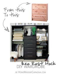 Amazing Ikea Rast Hack into DIY Wardrobe!!
