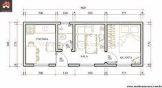 Casa 1 Quartos - 24m²
