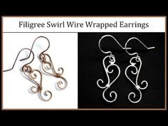 ▶ Easy Jewelry Tutorial : Simple Wire Wrapped Filigree Swirl Earrings - YouTube