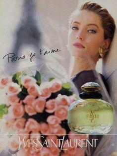 Yves Saint-Laurent Perfumes 1990 Paris Vintage advert Perfumes | Hprints.com
