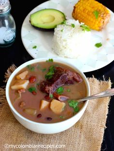 Sopa de Frijoles con Carne (Beans and Beef Soup) |mycolombianrecipes.com