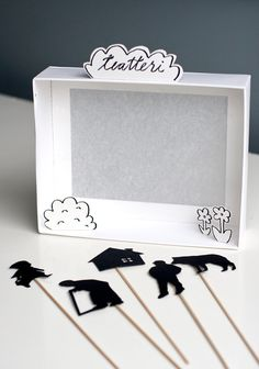 6 Boredom-Busting Crafts for the Entire Family ⋆ Handmade Charlotte DIY Shadow Box Puppet Theater<br> A handful of original DIY ideas to keep kids easily entertained and inspired over a free weekend. Kids Crafts, Projects For Kids, Diy For Kids, Diy And Crafts, Craft Projects, Arts And Crafts, Paper Crafts, Upcycled Crafts, Paper Toys