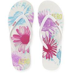Aero True Flowers Flip-Flop ($8) ❤ liked on Polyvore