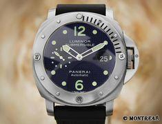Panerai Luminor Submersible PAM025 Automatic Titanium 44mm Swiss Watch NV53