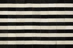 Alfombra con rayas en cuero premium Argentino . Modelo - IRIA BLACK& WHITE - ::: Design Carpets Alfombras :::