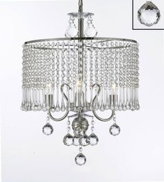 Contemporary 3light Crystal Chandelier Chandeliers Lighting With Crystal Shade and 40mm Crystal Balls W 16 x H 21 <3 View the item in details by clicking the VISIT button