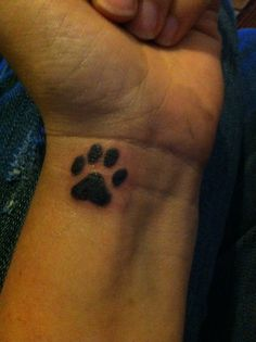 My new paw print tattoo!