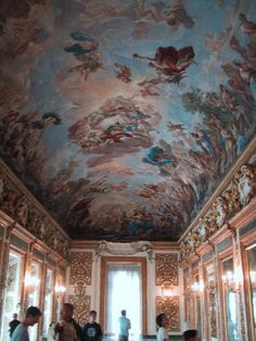 Palazzo Medici/ detail of the ceiling in the Medici Ballroom.