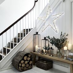 Ultimate Beaded Star | The White Company UK; glass baubles in jars