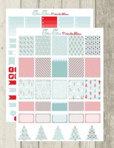 Winter Wonderland Stickers for Erin Condren, Happy Planner, Plum Planner, Filofax, Kikki.K/ Scrapbook{INSTANT DOWNLOAD}