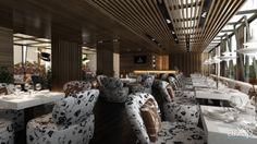 helsinki: интерьер, зd визуализация, современный, модернизм, ресторан, кафе, бар, столовая, интерьер #interiordesign #3dvisualization #modern #restaurant #cafeandbar #diningroom #interior arXip.com