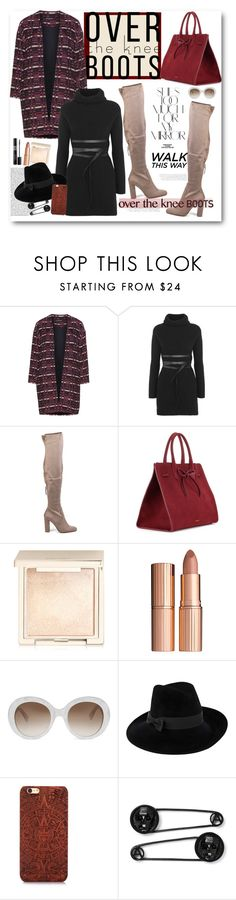 """""""Fall Footwear: Over-The-Knee Boots..."""" by cindy88 ❤ liked on Polyvore featuring Manon Baptiste, Valentino, Steve Madden, Mansur Gavriel, Rika, Jouer, Christian Dior, Charlotte Tilbury, By Terry and Gucci"""
