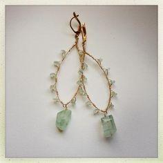 Keely Earrings Aqua