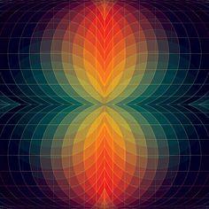 Op-Art Lamp and Tie-Dye Cloud: left but not alone. I'm right this time! Geometric Artwork, Geometric Designs, Geometric Shapes, Geometric Patterns, Op Art, Illustration, Grafik Design, Fractal Art, Sacred Geometry