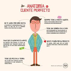 Anatomía de una cliente perfecto #infografia #infographic #marketing