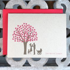 Baby Thank You Cards, New Baby  Thank You Cards, Trees, Strollers, Baby Announcement Cards, Birth Announcements
