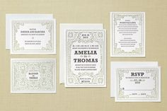 Fiesta Folk Letterpress Mexican Wedding Invitation