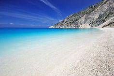 Myrtos Beach, Kefalonia, Greece: The Cool Hunter - Amazing Places To Experience Around the Globe Places Around The World, Oh The Places You'll Go, Places To Travel, Travel Destinations, Places To Visit, Dream Vacations, Vacation Spots, Vacation Travel, Vacation Villas