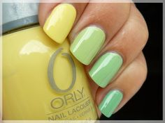 Green and Yellow Pastel Colors