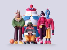 Toy Art, Illustrations Pop, 3d Character, Character Design, Behance, Maxon Cinema 4d, Animation, Motion Design, 3d Design