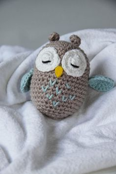 Baby Knitting Patterns Toys Crafting Fun with Hasekind: Instructions – Amigurumi Owl Baby Knitting Patterns, Crochet Patterns Amigurumi, Amigurumi Doll, Crochet Dolls, Afghan Patterns, Knitting Toys, Crochet Diy, Scarf Crochet, Owl