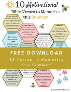 Joyful living blog on jollynotes being the hands feet of 10 motivational bible verses to memorize this summer perfect for realistic goal setting during fandeluxe Choice Image