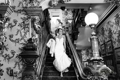 The bride on her way to her Milwaukee wedding! She got ready at the Wisconsin Club, by Front Room Photography