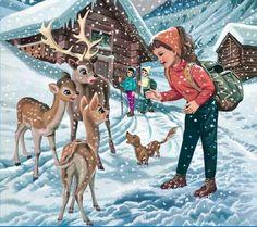 "Marcel Marlier the illustrator of the French/Belgian children books ""Martine. Marcel, Vintage Images, Vintage Art, Impressive Image, Children's Book Illustration, Vintage Children, Children Books, Cute Drawings, Cute Pictures"