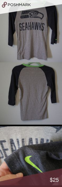 Nike Seattle Seahawks Baseball Tee 3/4 sleeves Nike logo on the sleeve  Seattle Seahawks logo on the chest  (Open to offers) Nike Tops