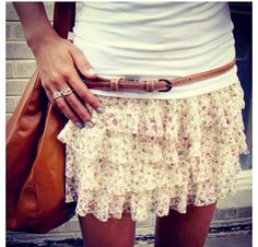 A cute short Lacey skirt great for the summer