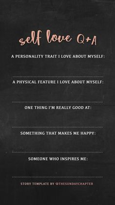 Self love Instagram story template