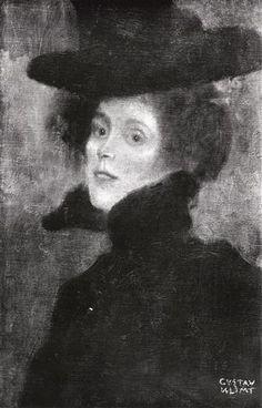 Early Works / Damenbildnis mit rotem Hintergrund 1897