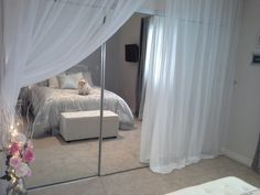 Hollywood Chic Apartment   Living Room Designs   Decorating Ideas   HGTV  Rate My Space · Mirrored Closet DoorsCloset ...