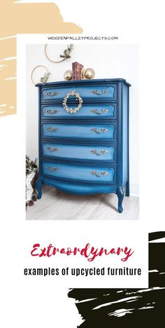 Absolutely amazing painted furniture inspirations and ideas. DIY furniture upcycling projects that will blow your mind. Various techniques including decoupage, paint layering, metallic paint and more! Decoupage Furniture, Paint Furniture, Upcycled Furniture, Furniture Makeover, Decoupage Ideas, Dresser Inspiration, Bedding Inspiration, Furniture Inspiration, Metallic Painted Furniture