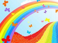 rainbow | Rainbow Cute Wallpaper - Free Download Summer Landscape With Rainbow ...