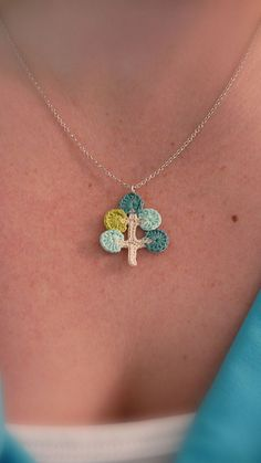 crocheted necklace charm love this!!