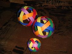 Free tutorial with pictures on how to make a decorative light in under 25 minutes by papercrafting with scissors, pencil, and cardstock. Paper Balls, Weaving Process, Light Decorations, Card Stock, Paper Crafts, Simple, Projects, Log Projects, Blue Prints