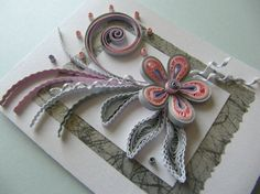Quilling Mini Greeting Cards Set of 2 Handmade by RudiBelArt