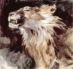 Eugène Delacroix / Lion's Head