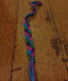 Pink, Green, and Purple Candy Stripe Braid