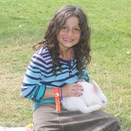 $10 Sponsor a Rabbit in the petting zoo in camp