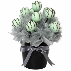 Shades of Green Cake Pops