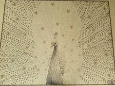 Mosaico Arte e Mestieri white peacock. 203- 164 cm glass mosaic #mosaic # peacock #mosaicart
