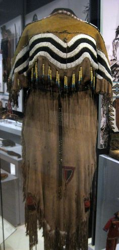 1885-1890 Blackfoot (First Nations) Woman's ceremonial outfit at the Royal Ontario Museum, Toronto