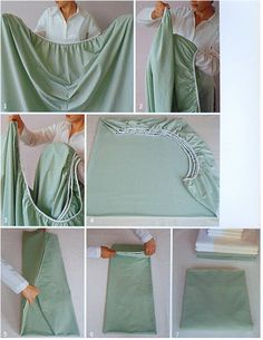 How to fold a fitted sheet!!!