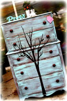 This whimsical dresser turned out so beautifully! http://www.facebook.com/pages/Inspired-Creations-Furniture/205793936159220
