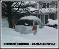 Came upon this scene while out walking Bella today. Apparently nobody will be as happy to see Spring arrive as the owner of this car. Redneck Love, Redneck Humor, Funny Photos, Canada, Lol, Park, Winter, Meme, Outdoor