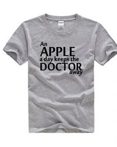 Doctor Who t shirt an apple a day keeps the doctor away-